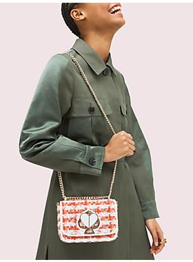 二コラ ツイード ツイストロック スモール コンバーチブル チェーン ショルダー バッグ