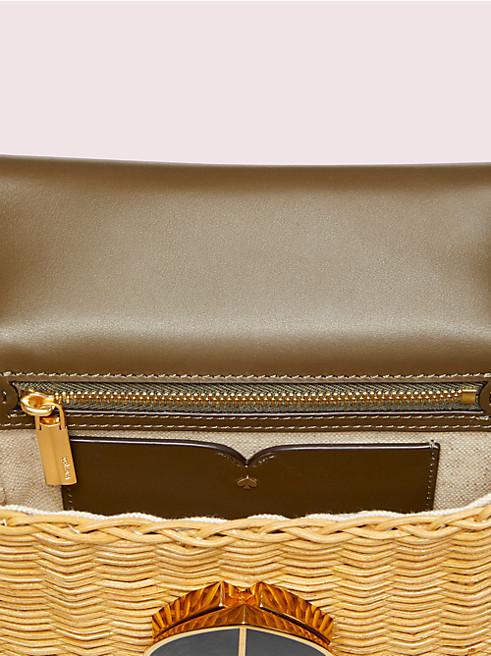 二コラ ウィッカー ツイストロック スモール コンバーチブル チェーン ショルダー バッグ