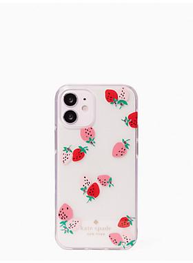 アイフォン ケース ストロベリー ウィズ ジェムズ - 12 mini