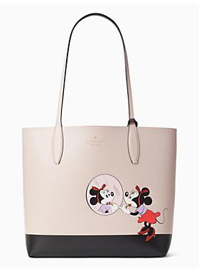ディズニー x ケイト・スペード ニューヨーク ミニー マウス ラージ リバーシブル トート