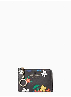 ステイシー セーリング フローラル ミディアム L-ジップ カード ホルダー